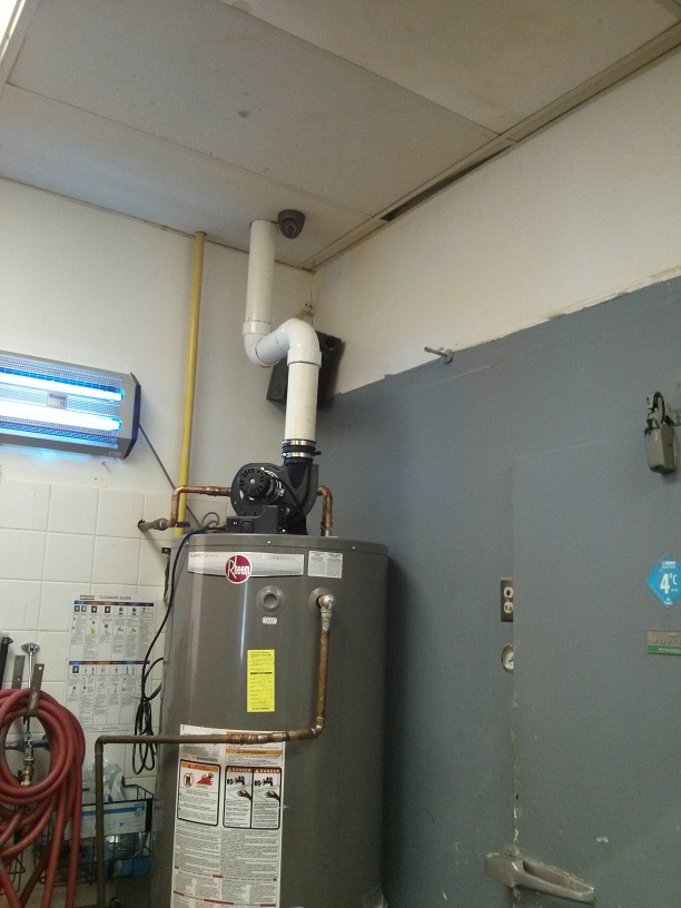 hot water tank install