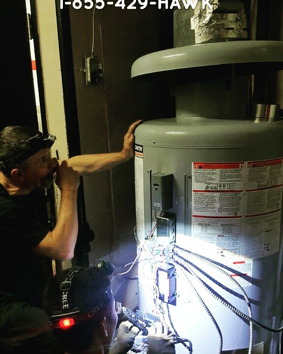 new water boiler install